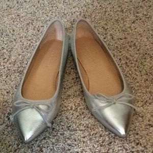 Pointy toed ballet flats